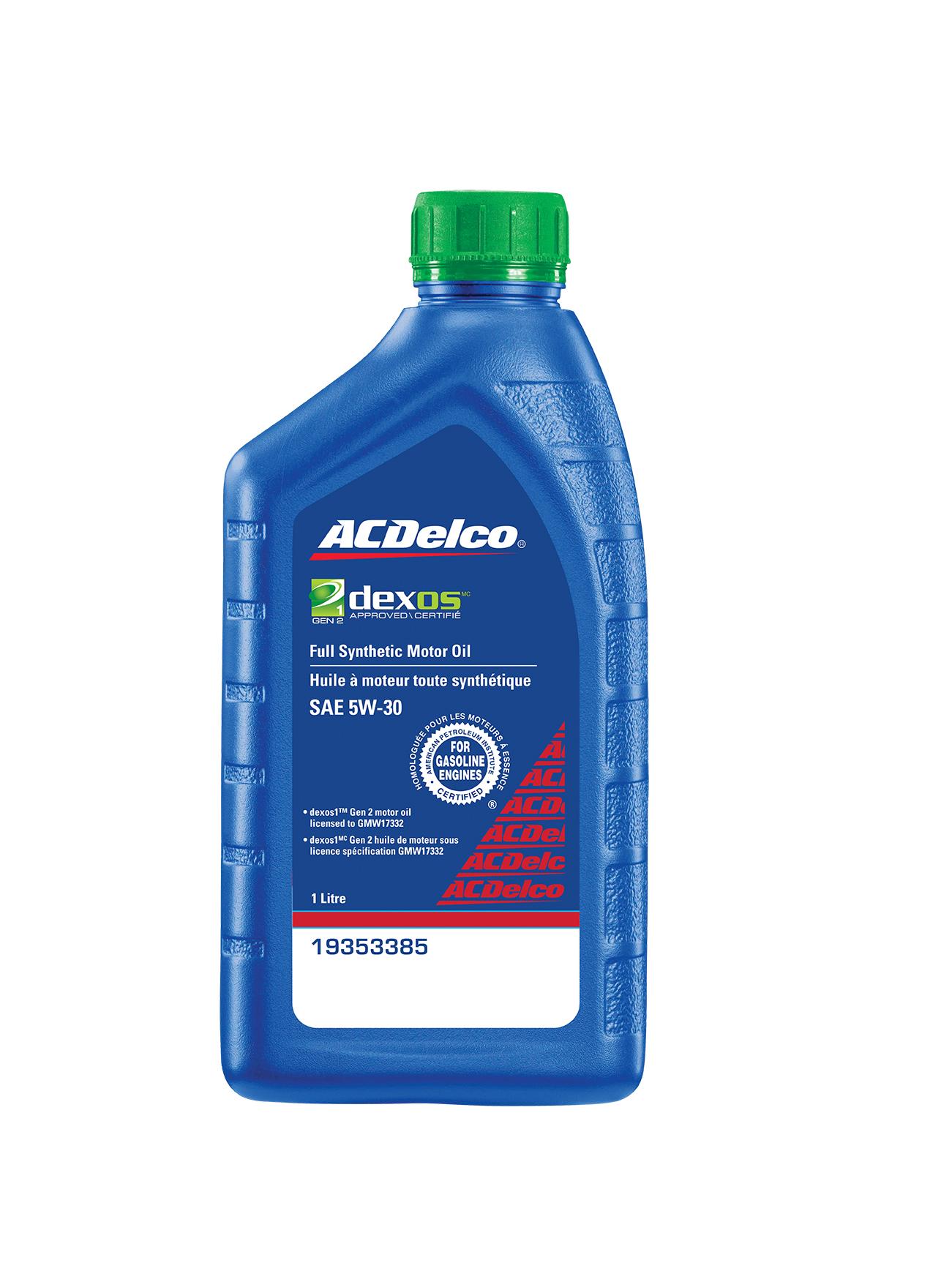 What Is Dexos Oil >> Acdelco Canada Dexos1 Gen2 Full Synthetic Engine Oil